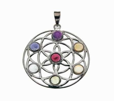 Silber Anhänger Mandala